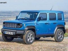 Jeep全新小型SUV渲染图 搭1.3T引擎造型够硬派